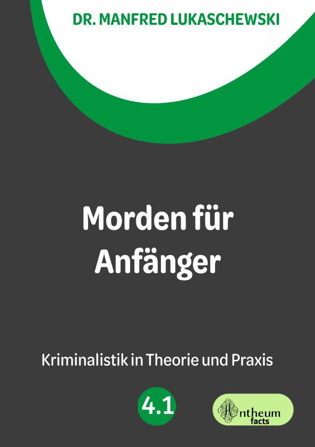 Cover von Morden für Anfänger von Dr. Manfred Lukaschewski