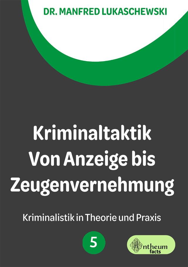 Cover von Kriminaltaktik von Manfred Lukaschewski